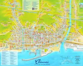 Chiavari Tourist Map