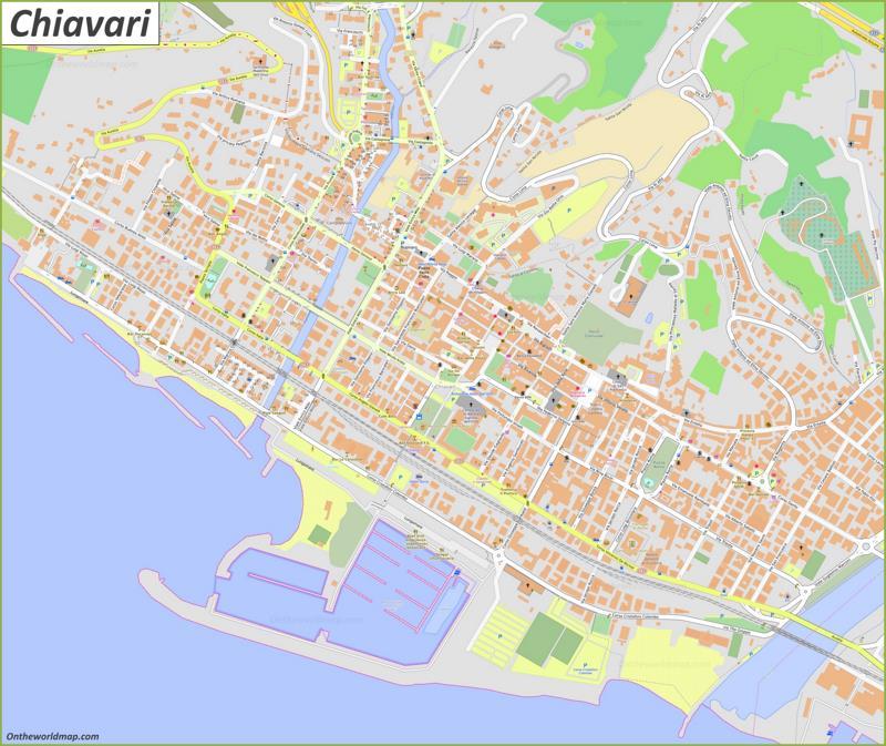 Map of Chiavari