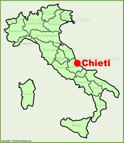 Chieti Location Map