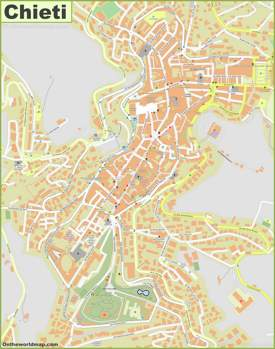 Chieti Old Town Map
