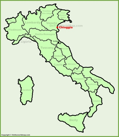Chioggia Location Map