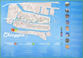 Chioggia tourist map