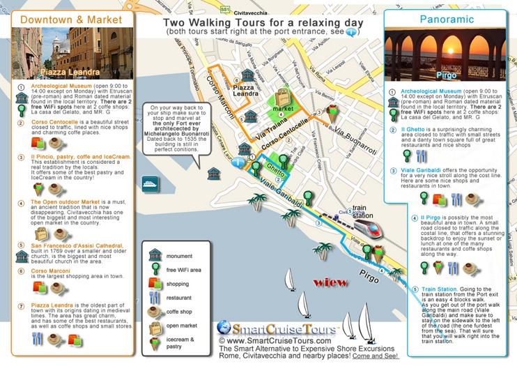 Civitavecchia tourist map