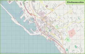 Large detailed map of Civitavecchia