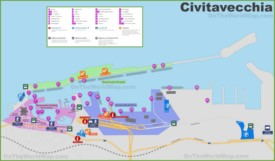 Port of Civitavecchia map
