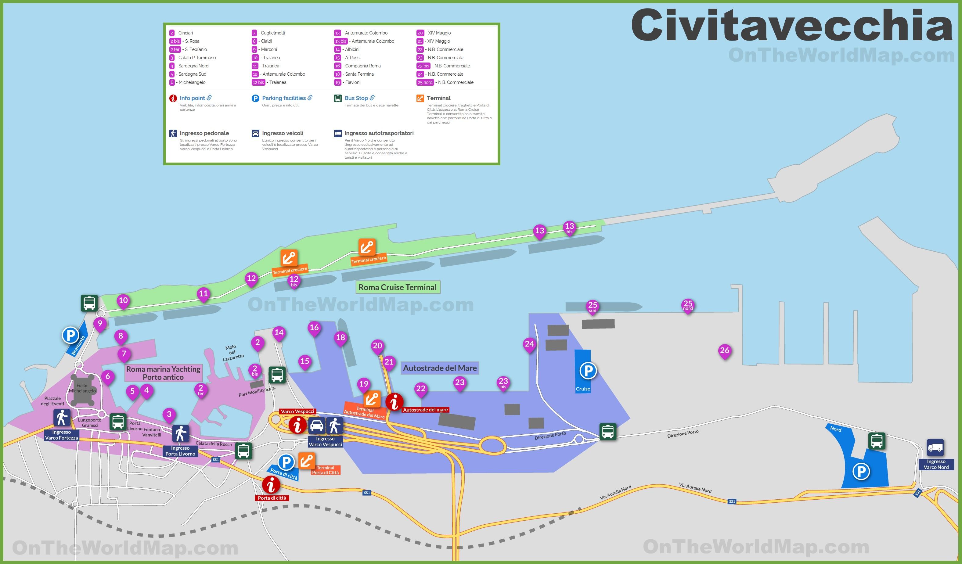 Civitavecchia Maps Italy Maps of Civitavecchia