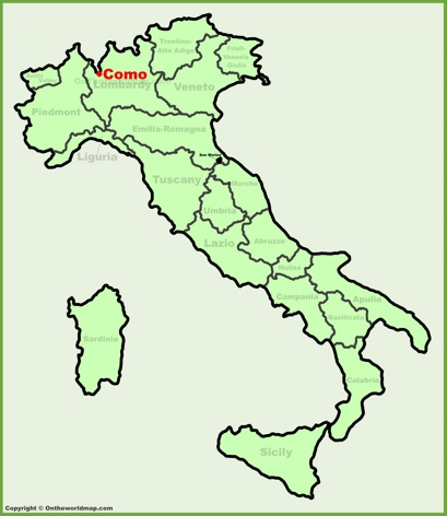 Como Location Map