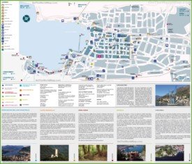 Large detailed tourist map of Como