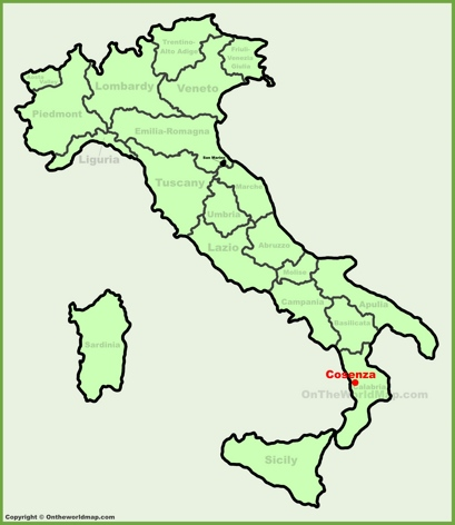 Cosenza Location Map