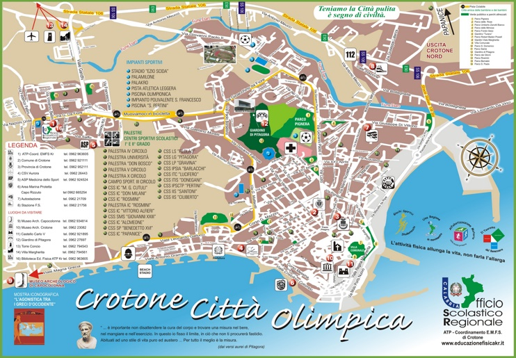 Crotone tourist map