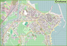 Large detailed map of Crotone