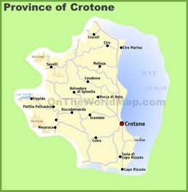 Province of Crotone map