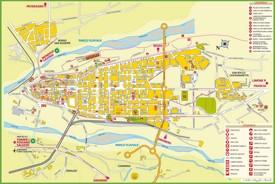 Cuneo tourist map