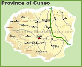 Cuneo Maps Italy Maps of Cuneo