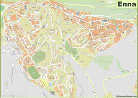 Enna Old Town Map