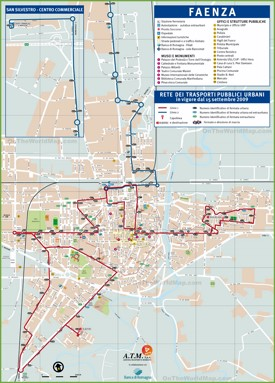 Faenza tourist attractions map