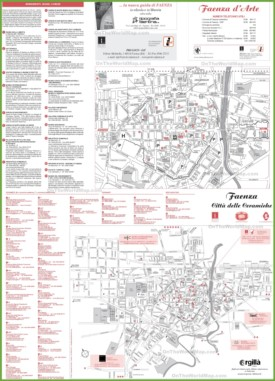 Faenza tourist map