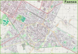 Large detailed map of Faenza