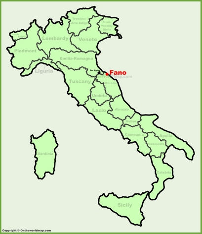 Fano Location Map