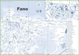 Fano sightseeing map