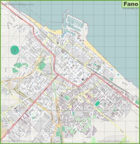 Large detailed map of Fano