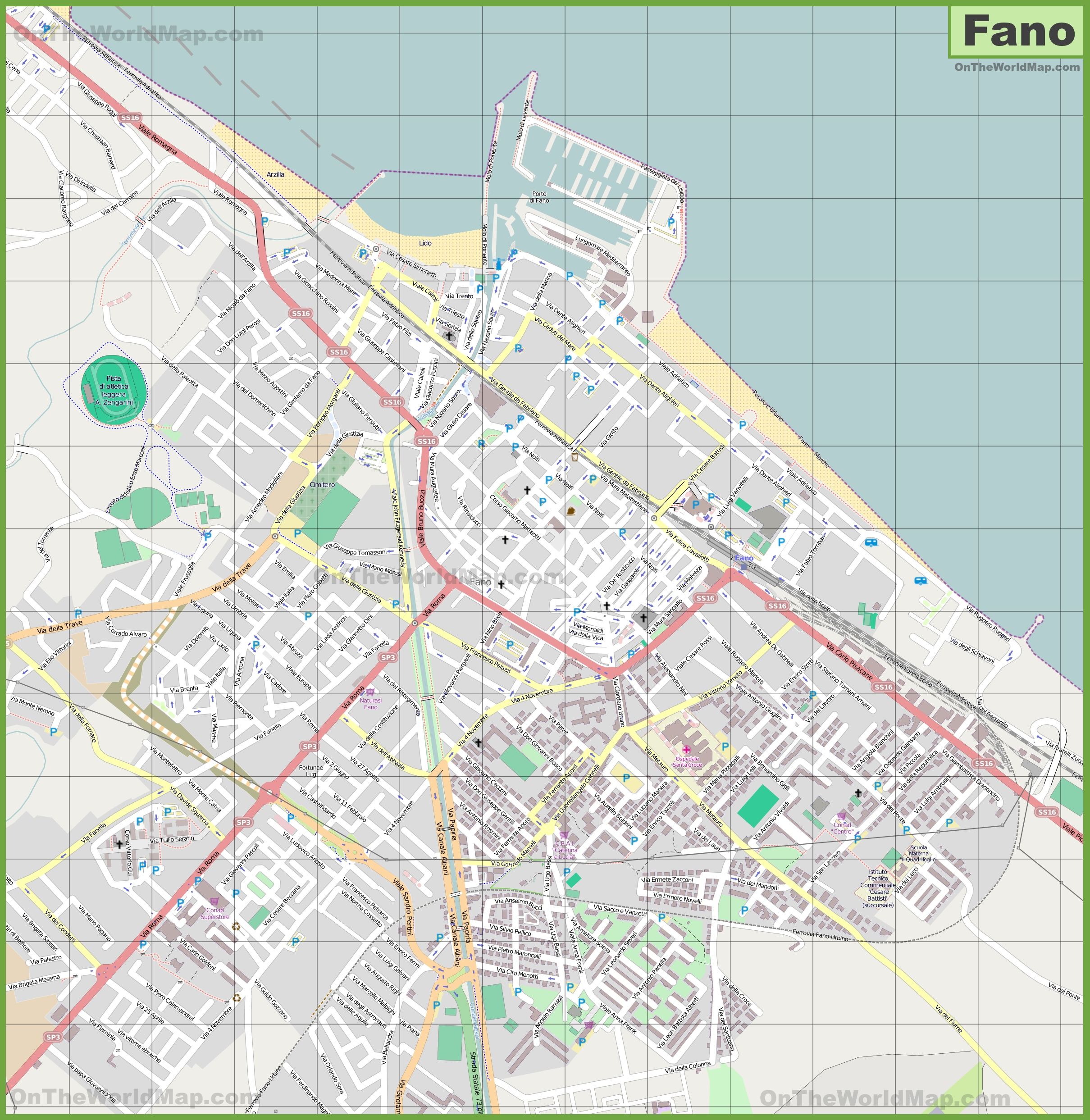 Fano Maps Italy Maps of Fano