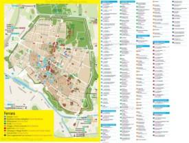 Ferrara hotel map