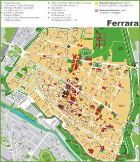 Ferrara sightseeing map