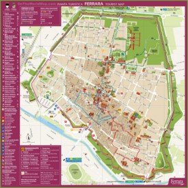 Ferrara tourist map