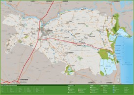Province of Ferrara tourist map