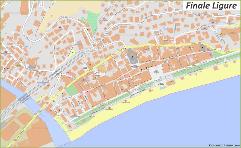 Map of Finale Ligure