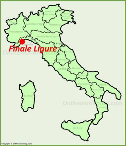 Finale Ligure Location Map