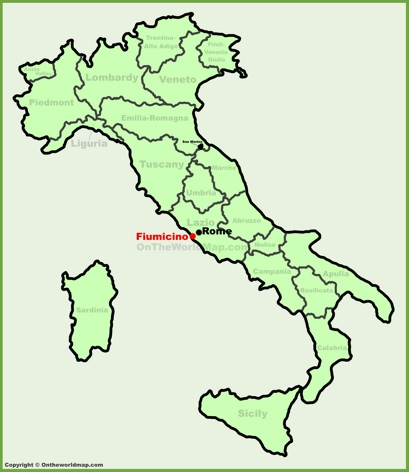 Fiumicino Location Map