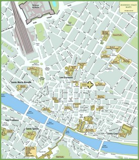 Florence tourist attractions map