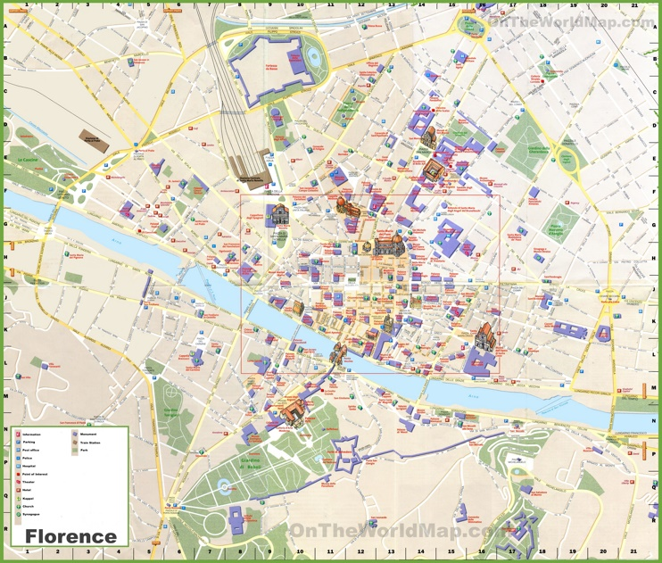 Florence tourist map