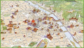 Florence travel map