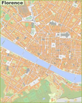 Large detailed map of Florence