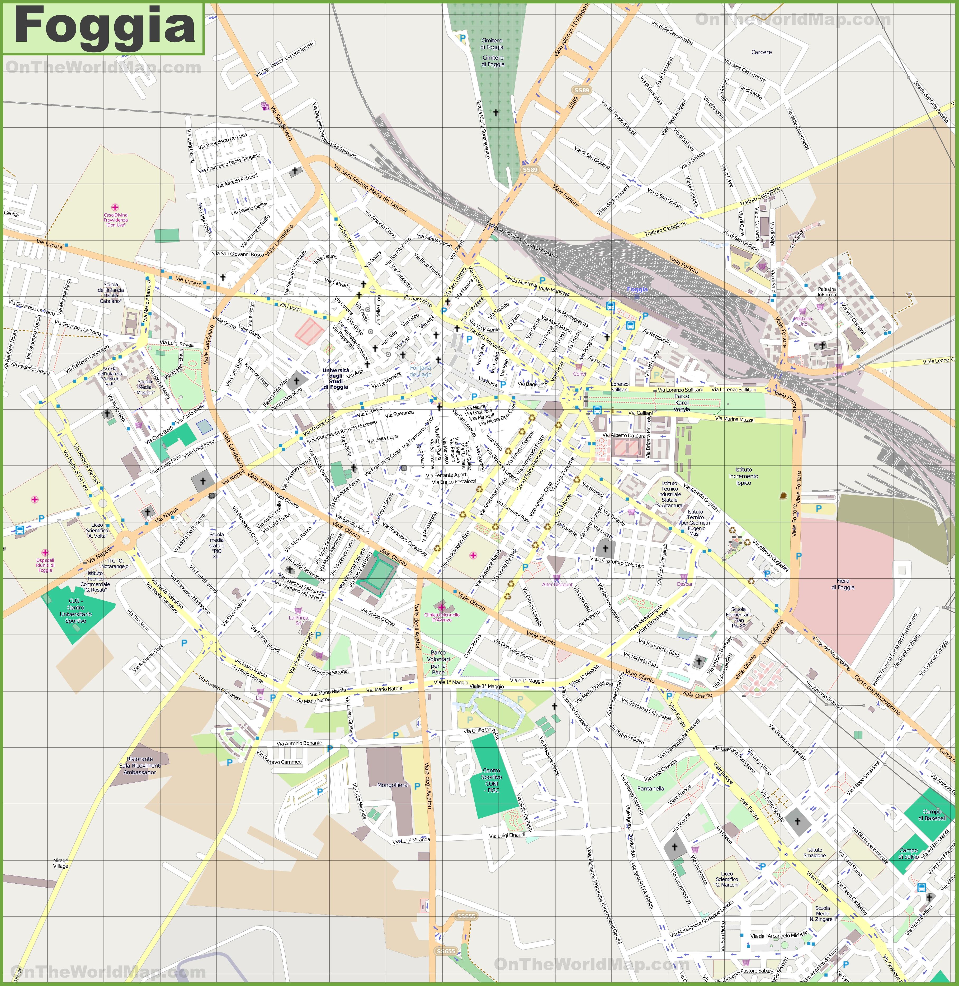 Foggia Maps Italy Maps of Foggia