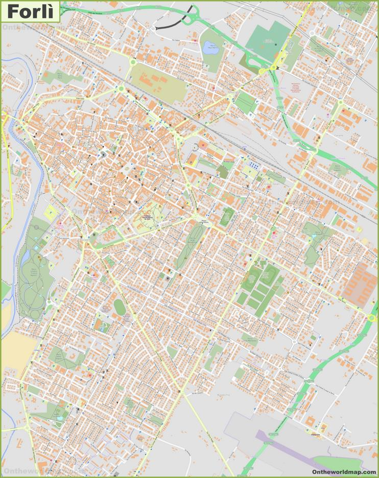 Detailed Map of Forlì