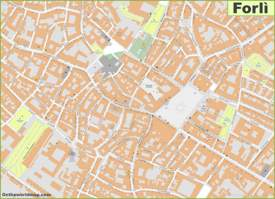 Forlì Old Town Map