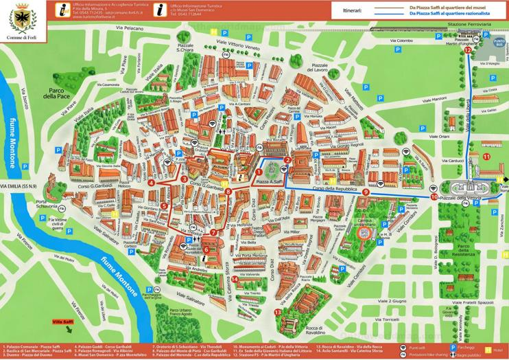 Forlì Tourist Map