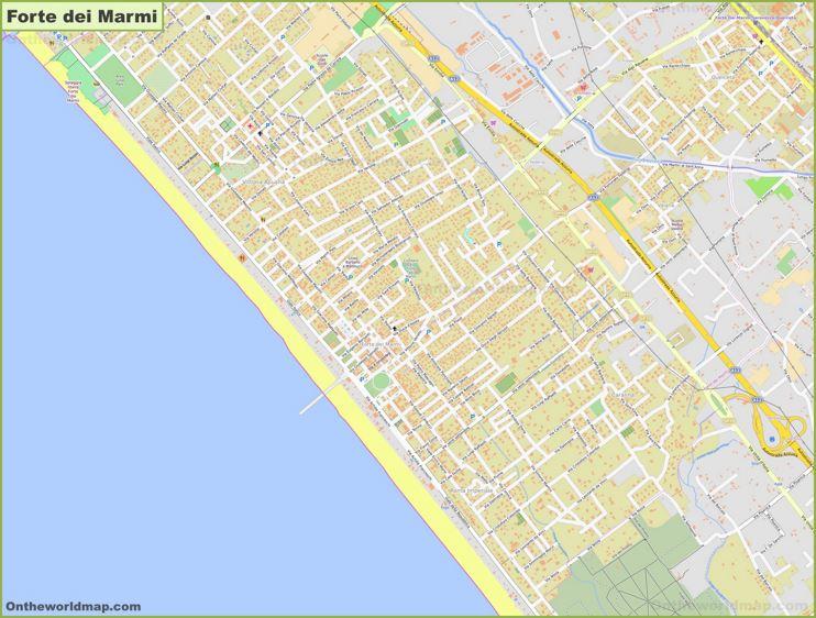Detailed Map of Forte dei Marmi
