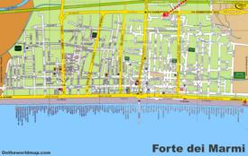 Forte dei Marmi Tourist Map