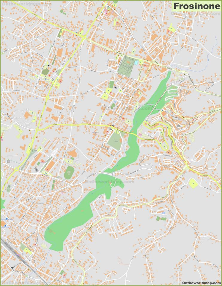 Detailed Map of Frosinone