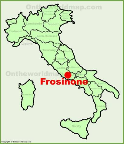 Frosinone Location Map