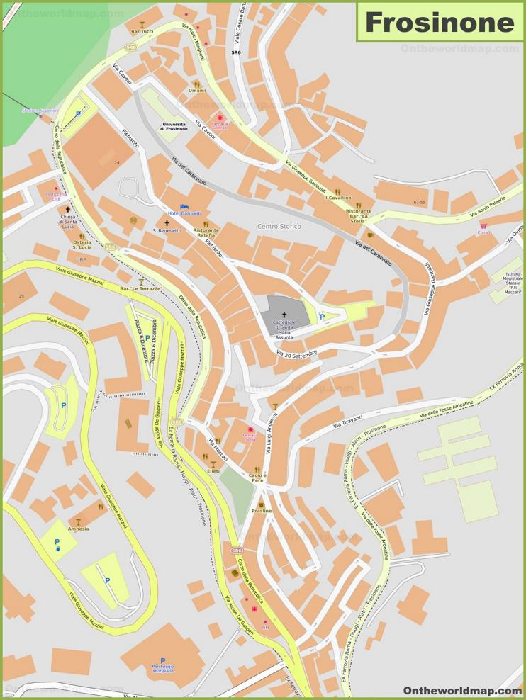 Frosinone Old Town Map