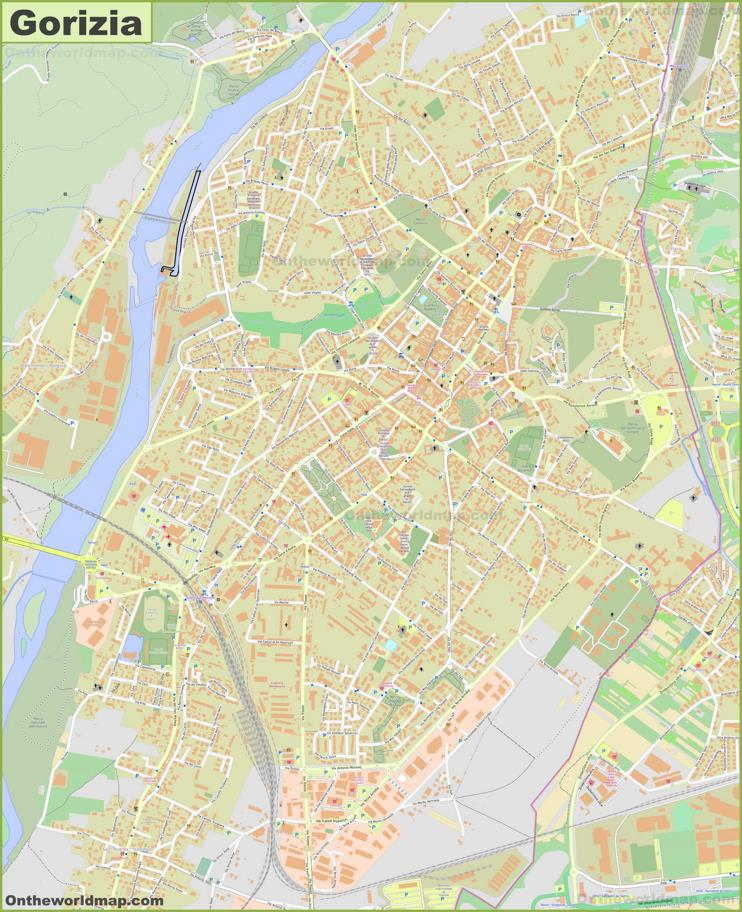 Detailed Map of Gorizia