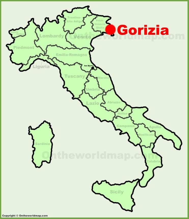 Gorizia location on the Italy map