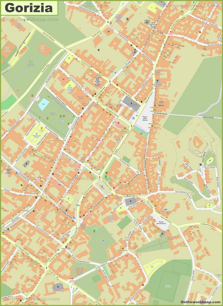 Gorizia Old Town Map