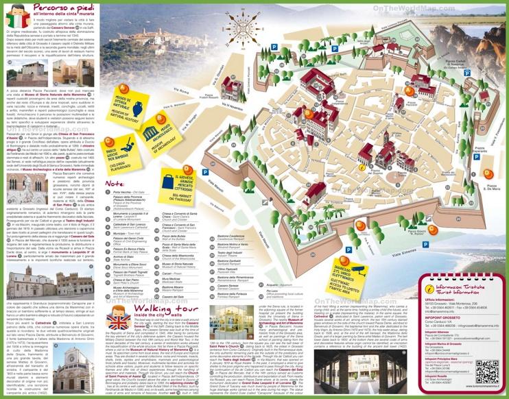 Grosseto tourist map
